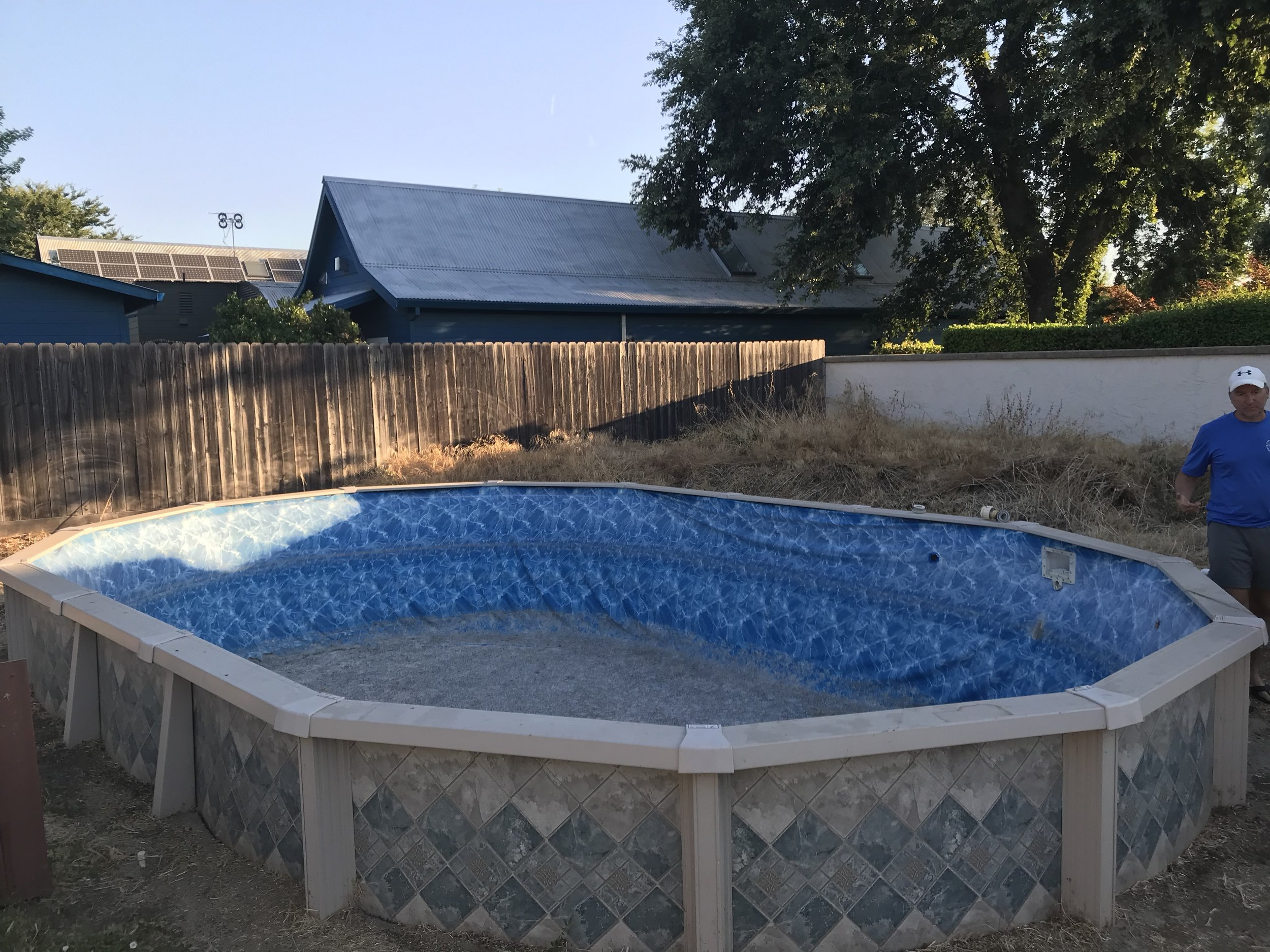 16x24 Doughboy Above Ground Pool Liner Installation in Chico ...