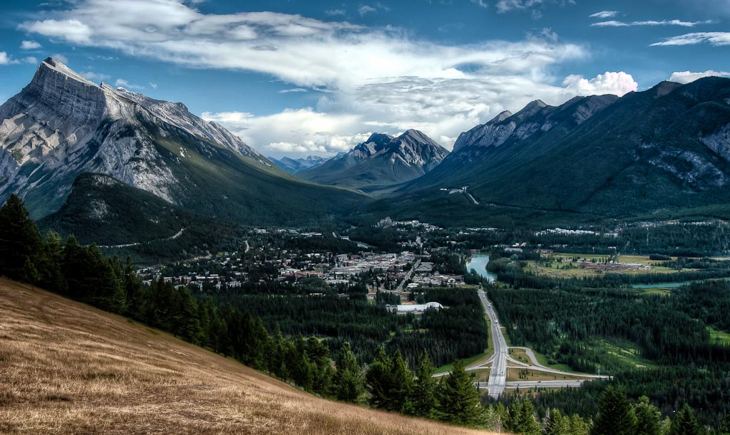 Town of   Banff, Banff National Park, Alberta, Canada