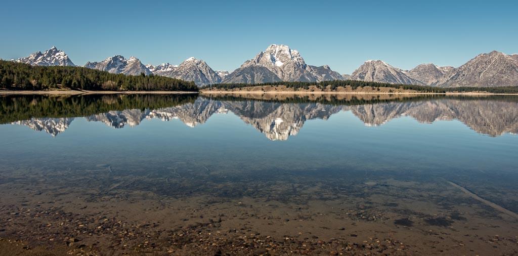 Cathloic Bay, Jackson Lake, Grand Teton National Park, Wyoming