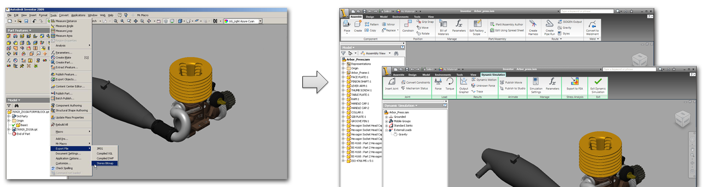 Redesign the menu system-based UI to the ribbon UI to increase discoverability and consistency cross suite of Autodesk applications.
