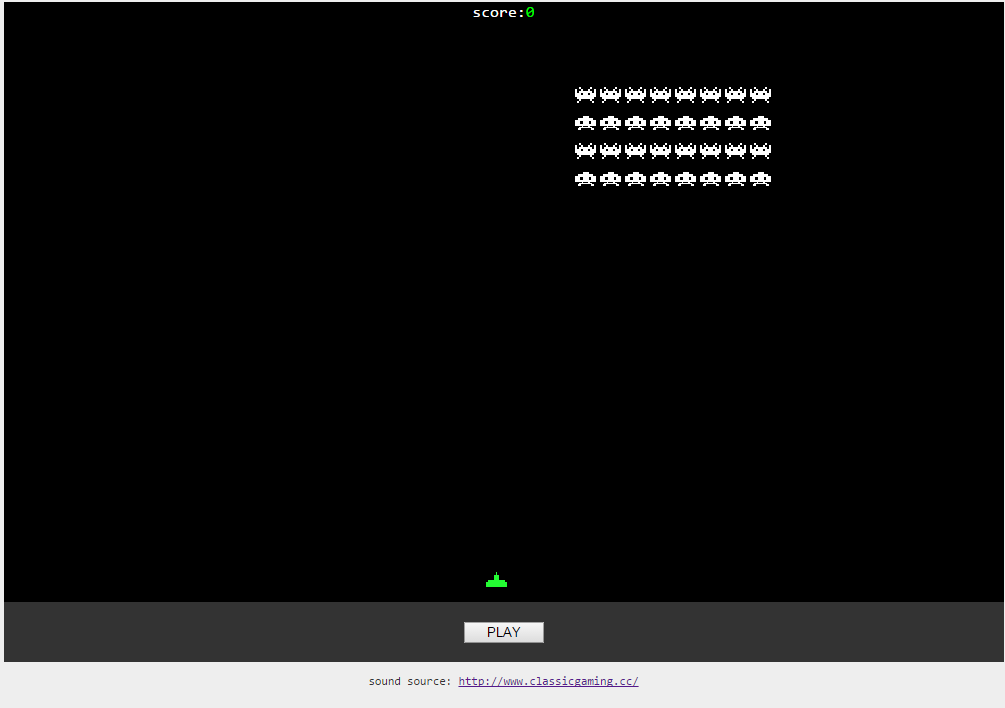 Building Space Invader Game using Greensock js — JIYOUNG OH