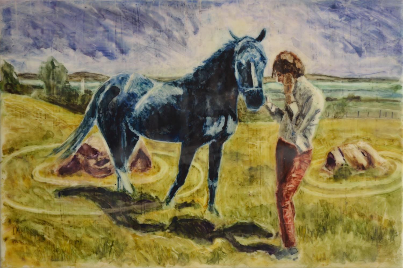 Horse Circle 3 (blue horse)