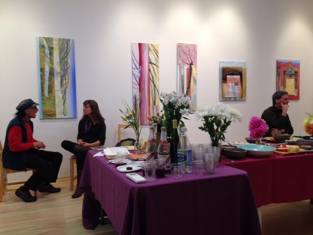 Laura Bender's paintings in studio open house