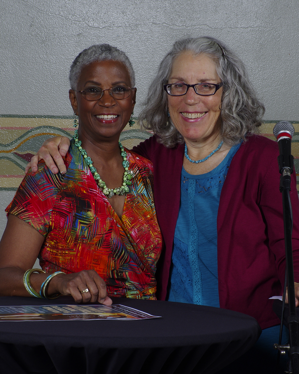 Donna Maxey and I at Race Talks, photo by Jane Keating