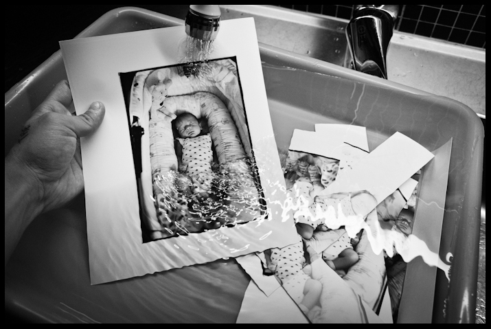 Creating a darkroom print. Shot with the Ricoh GR.