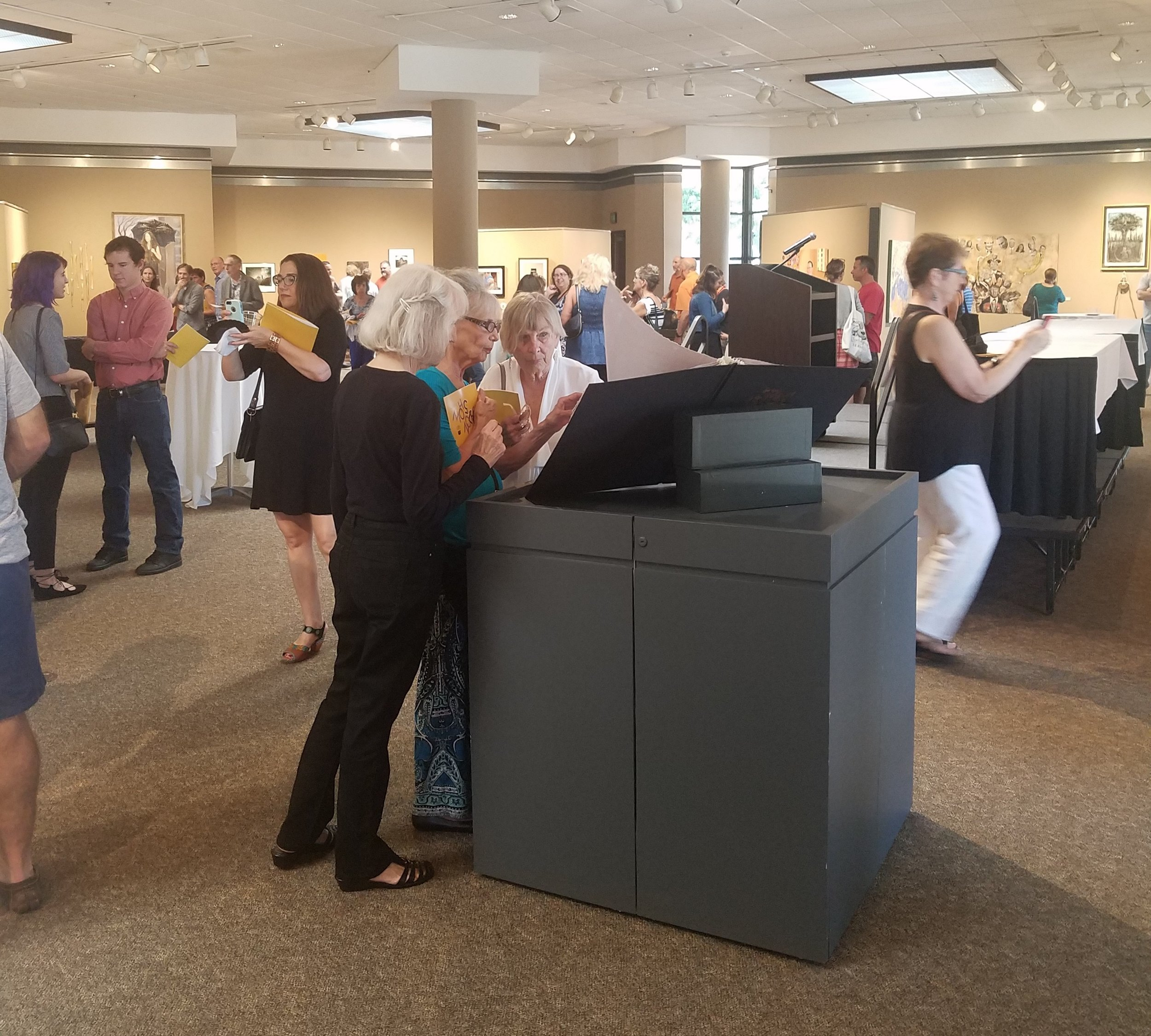 South Shore Arts Salon Show - overall shot of reception.jpg