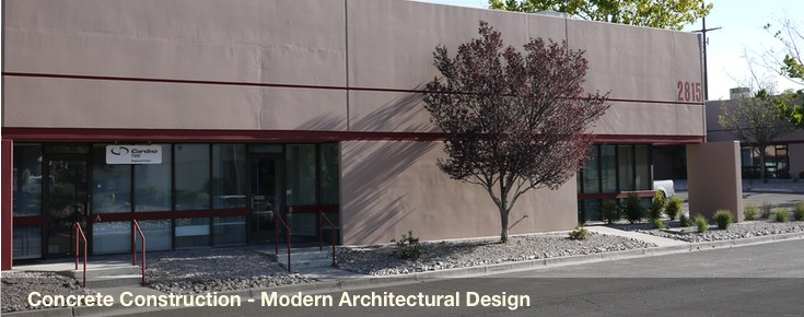 Concrete construction, modern architectural design