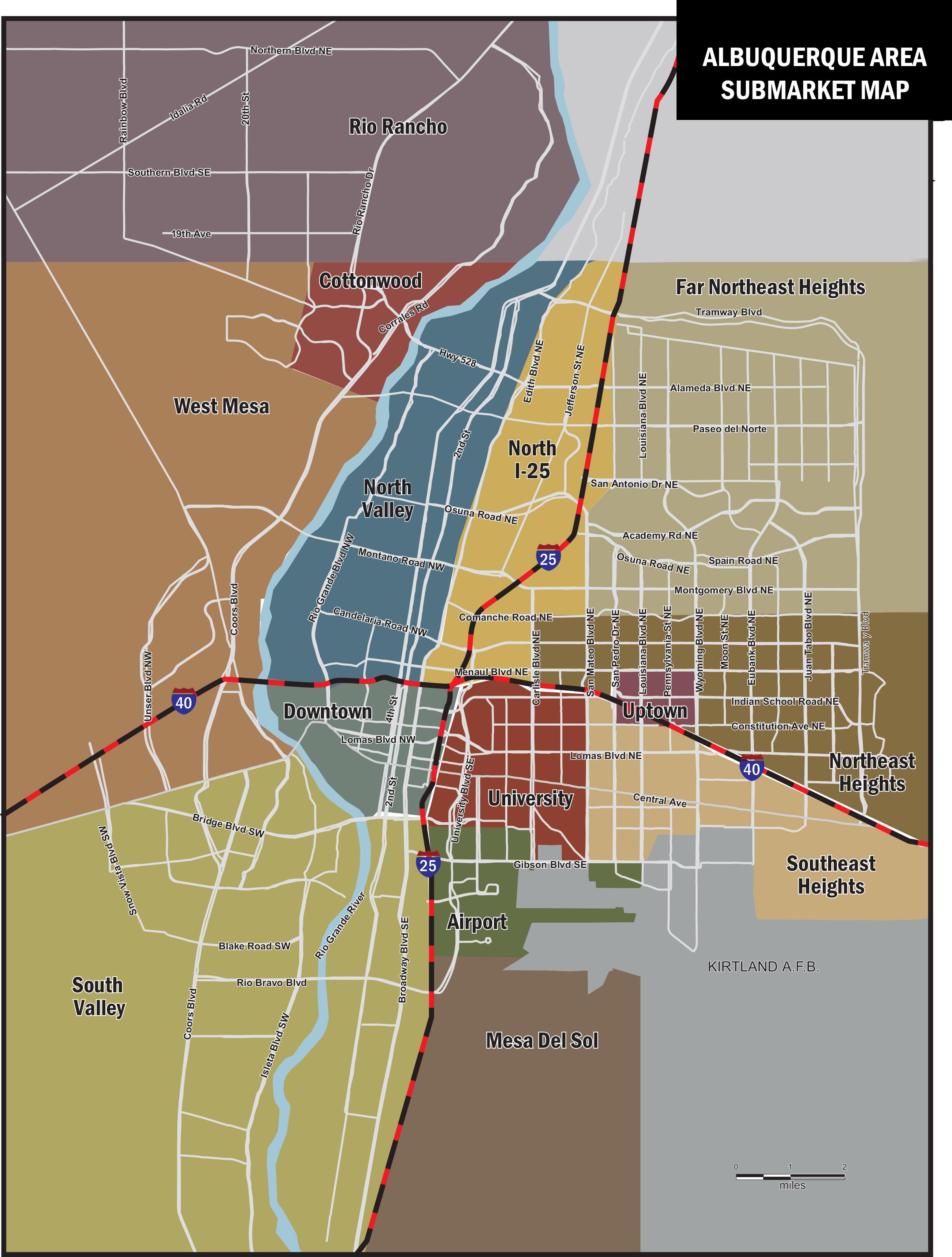 Albuquerque Submarket Map