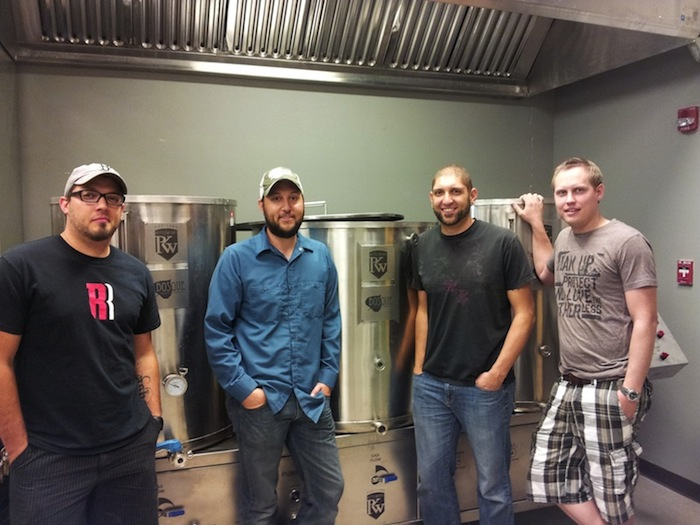 The Bosque Brewing staff, from left, Jared Michnovicz, Gabe Jensen, Jotham Michnovicz, and Kevin Jameson.