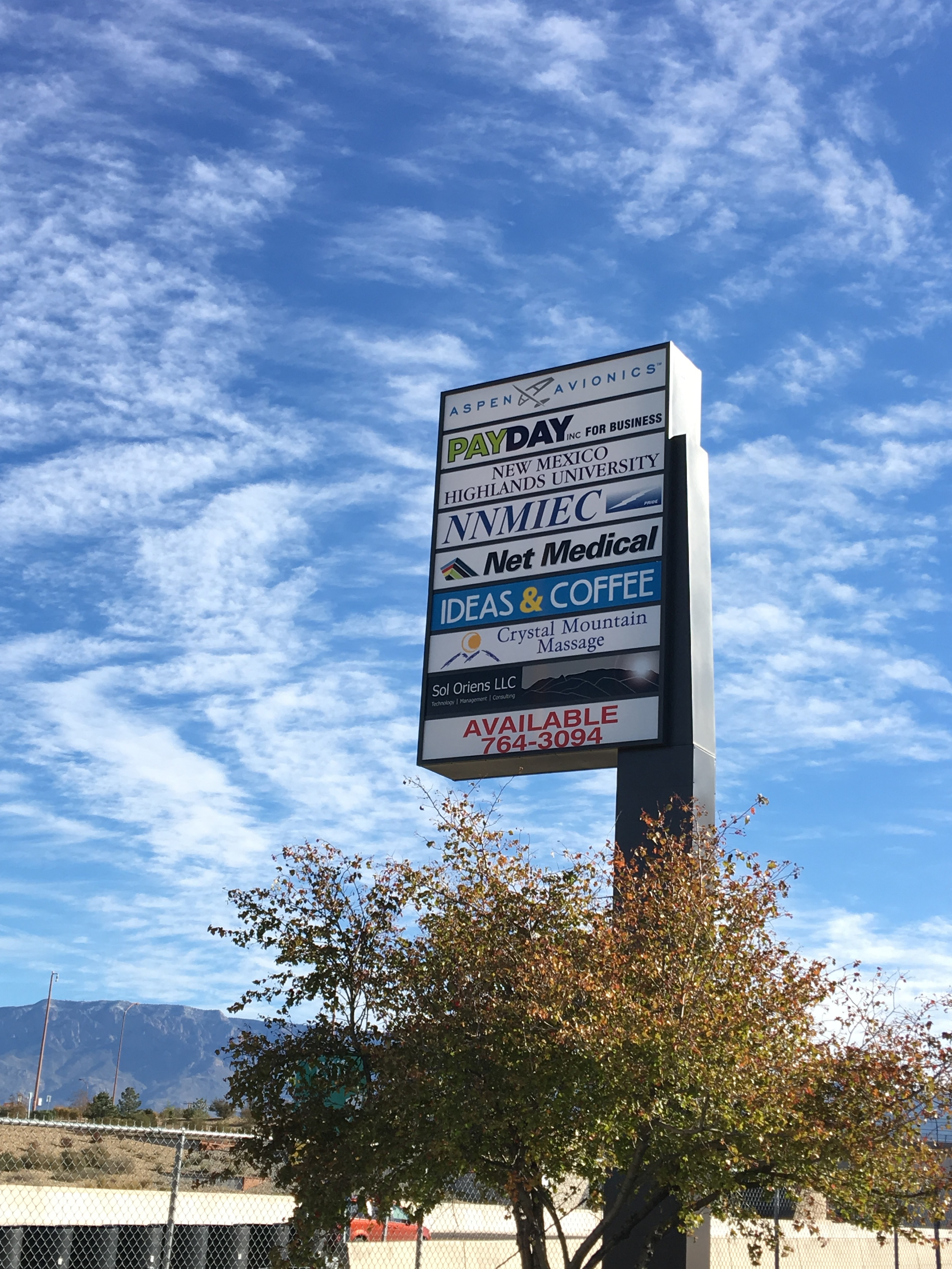View of Monument Sign from I-40