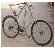 Ahead of its time and perhaps anticipating the Moulton, the original space framed bike, the Dursley Pedersen, this model from 1898