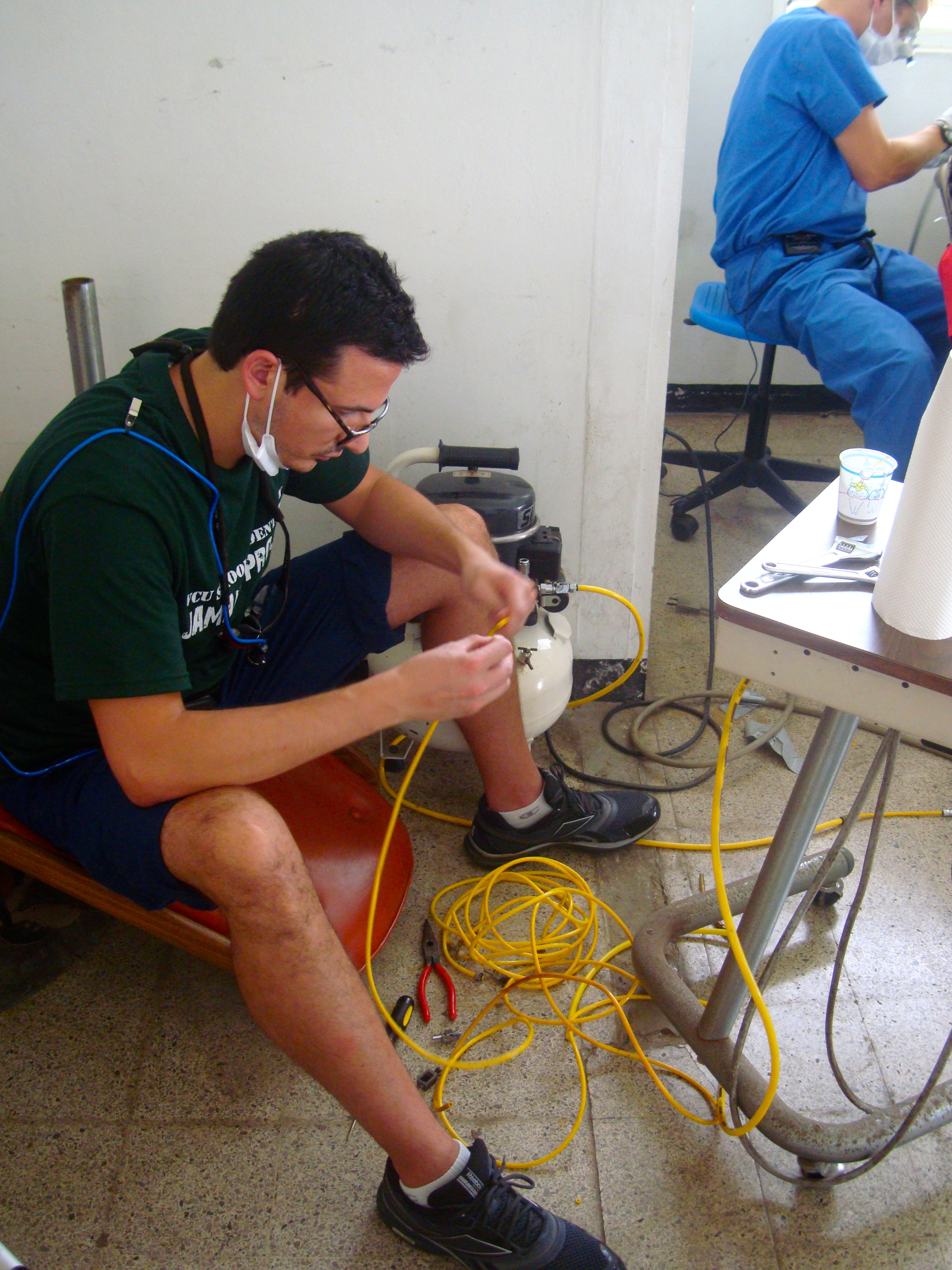 Rami Ghorab working on compressor lines.