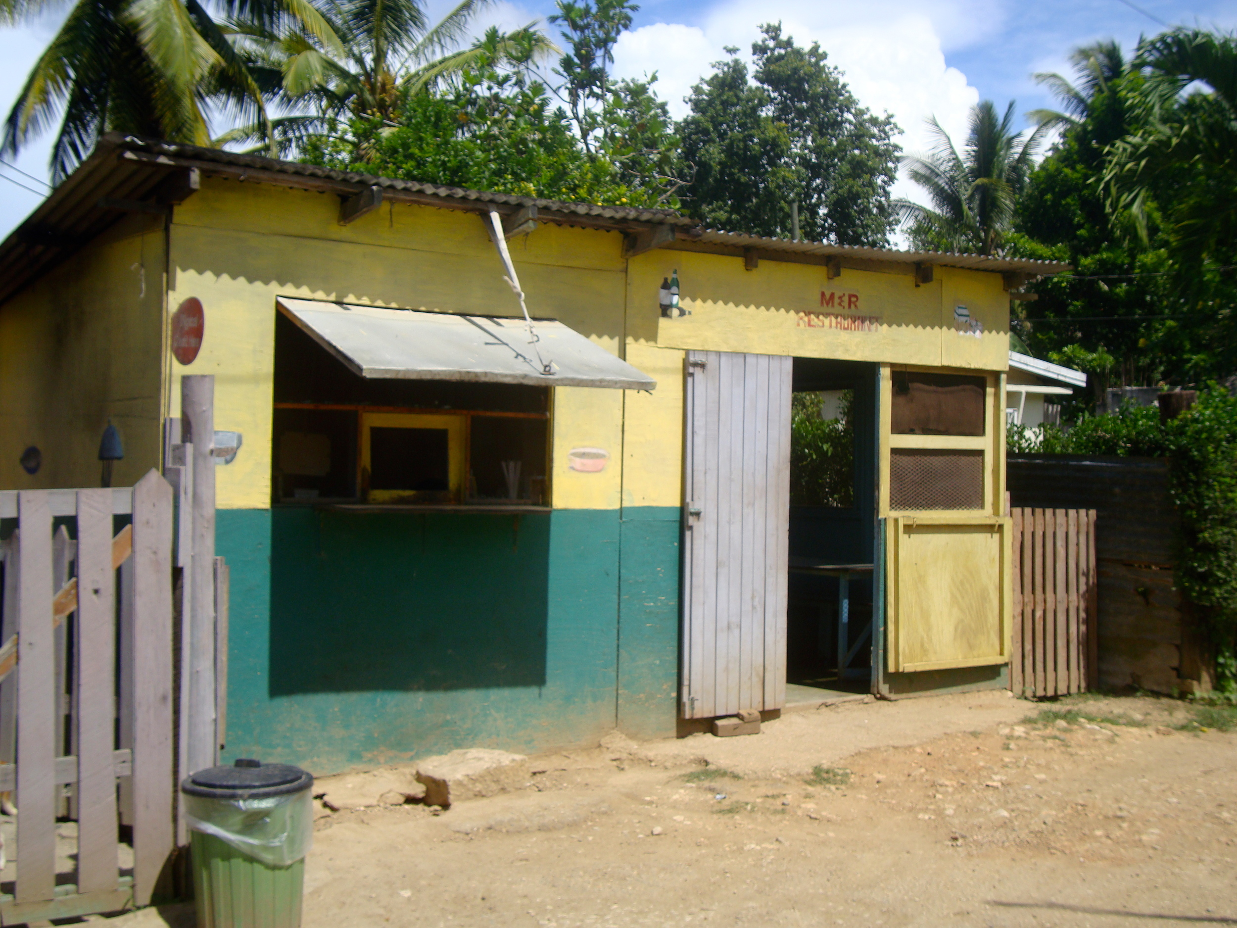 M & R's Resturant in Clarks Town.  Mark, his  mother Marcia and brothers Damien and Malcolm own and operate.