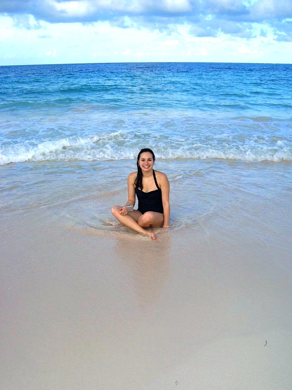 Chrissy On The Beach.JPG