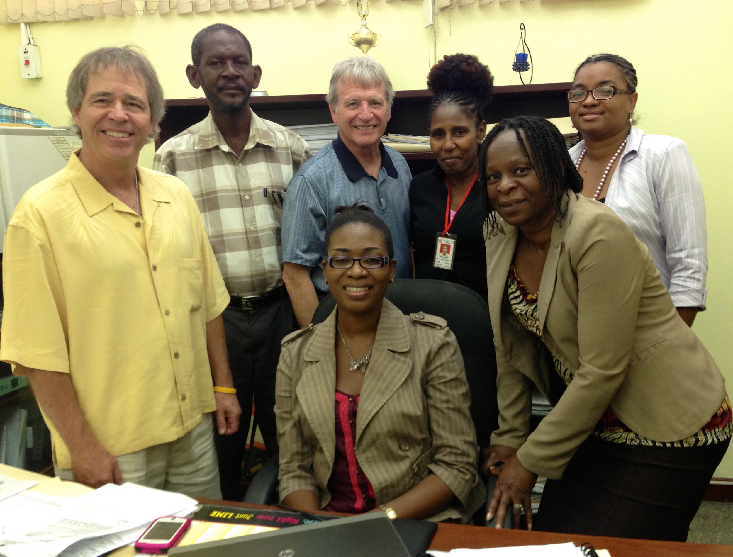 Mick & Bob meeting with MOH officials at Cornwall Regional Hospital, Montego Bay this past May 17th.