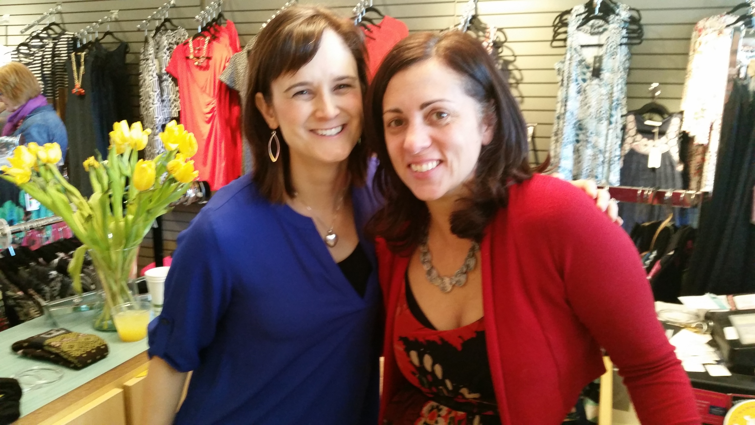 Amanda Hedin, Founder Eden's Garden and Jill Henderson, Owner of Poppy Togs and Clogs.