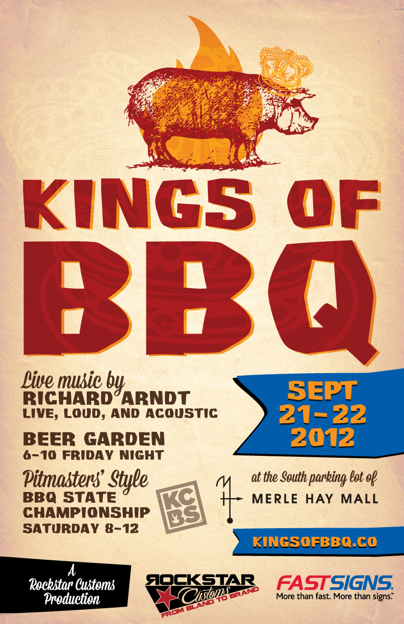 Kings of BBQ poster design