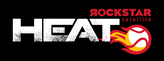 Rockstar Satellite Heat - A logo for a local little league baseball team.