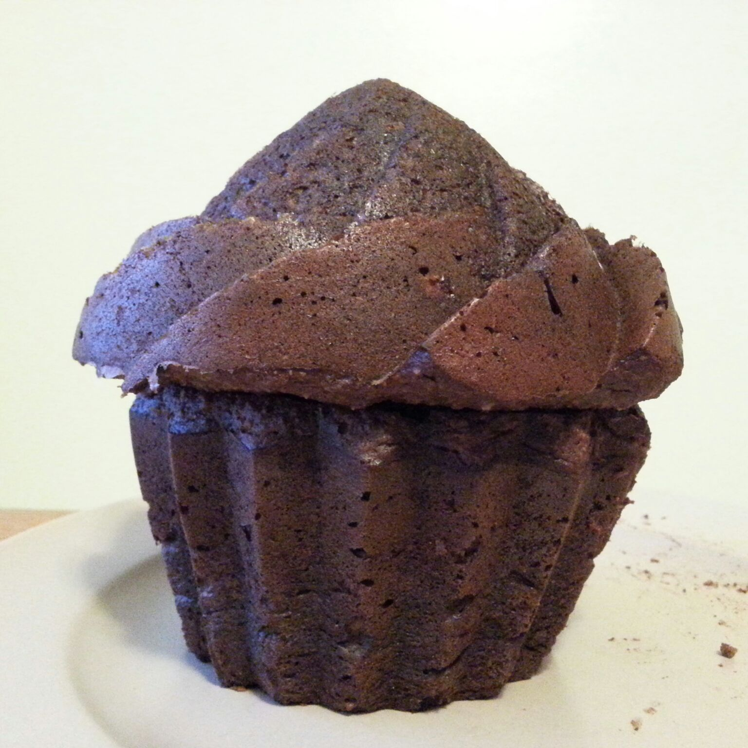 giant paleo double chocolate muffin
