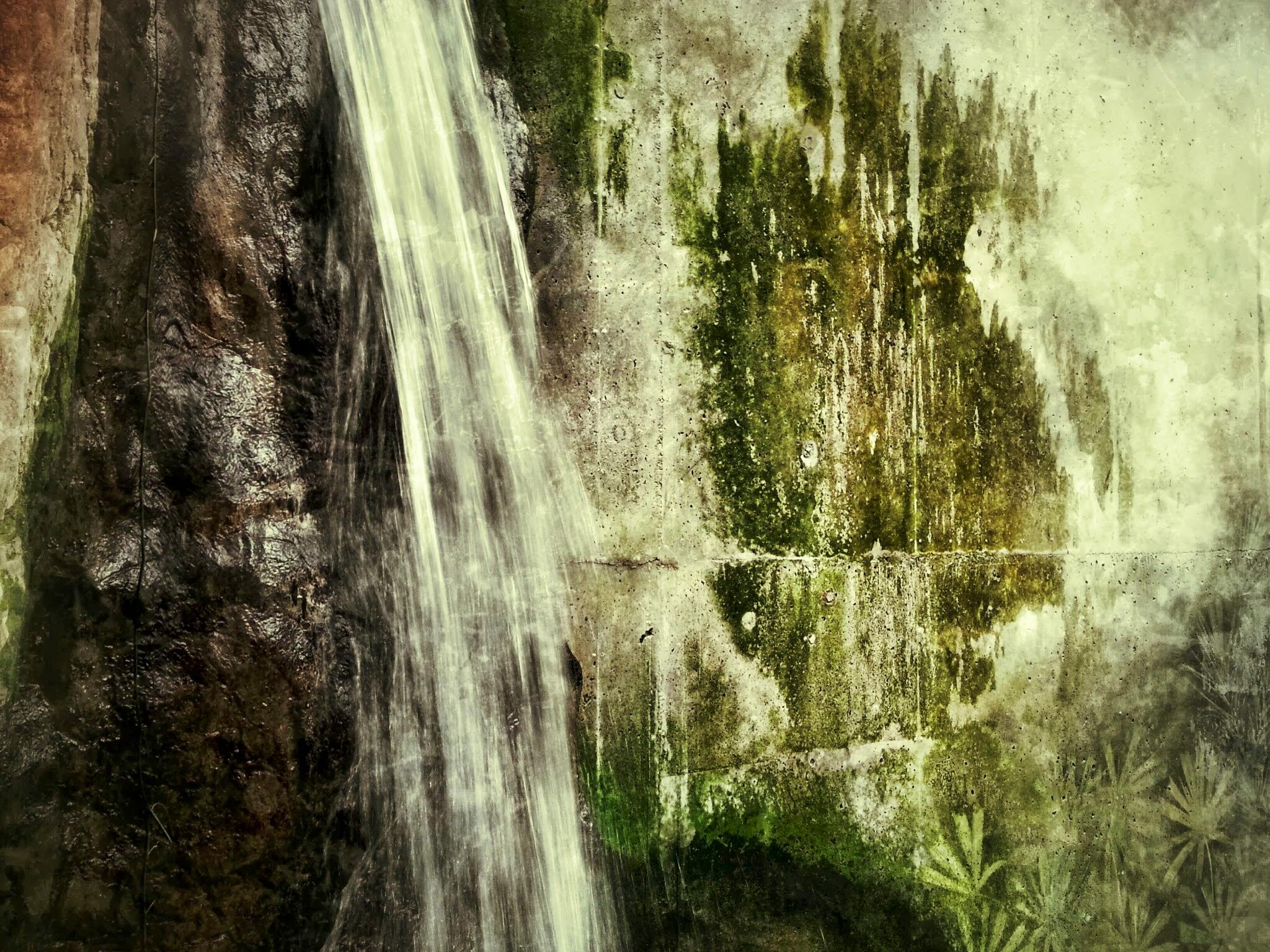 Waterfall grunge