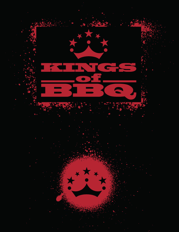 "Kings of BBQ ""Stencil"" Splatter shirt"