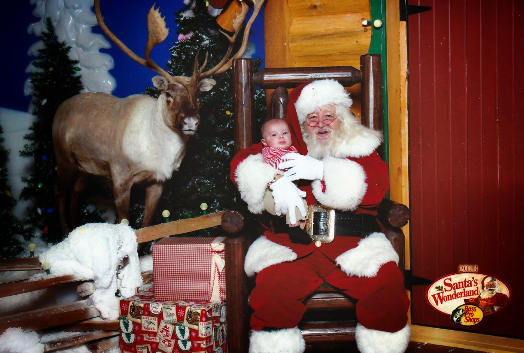 Ryker with Santa