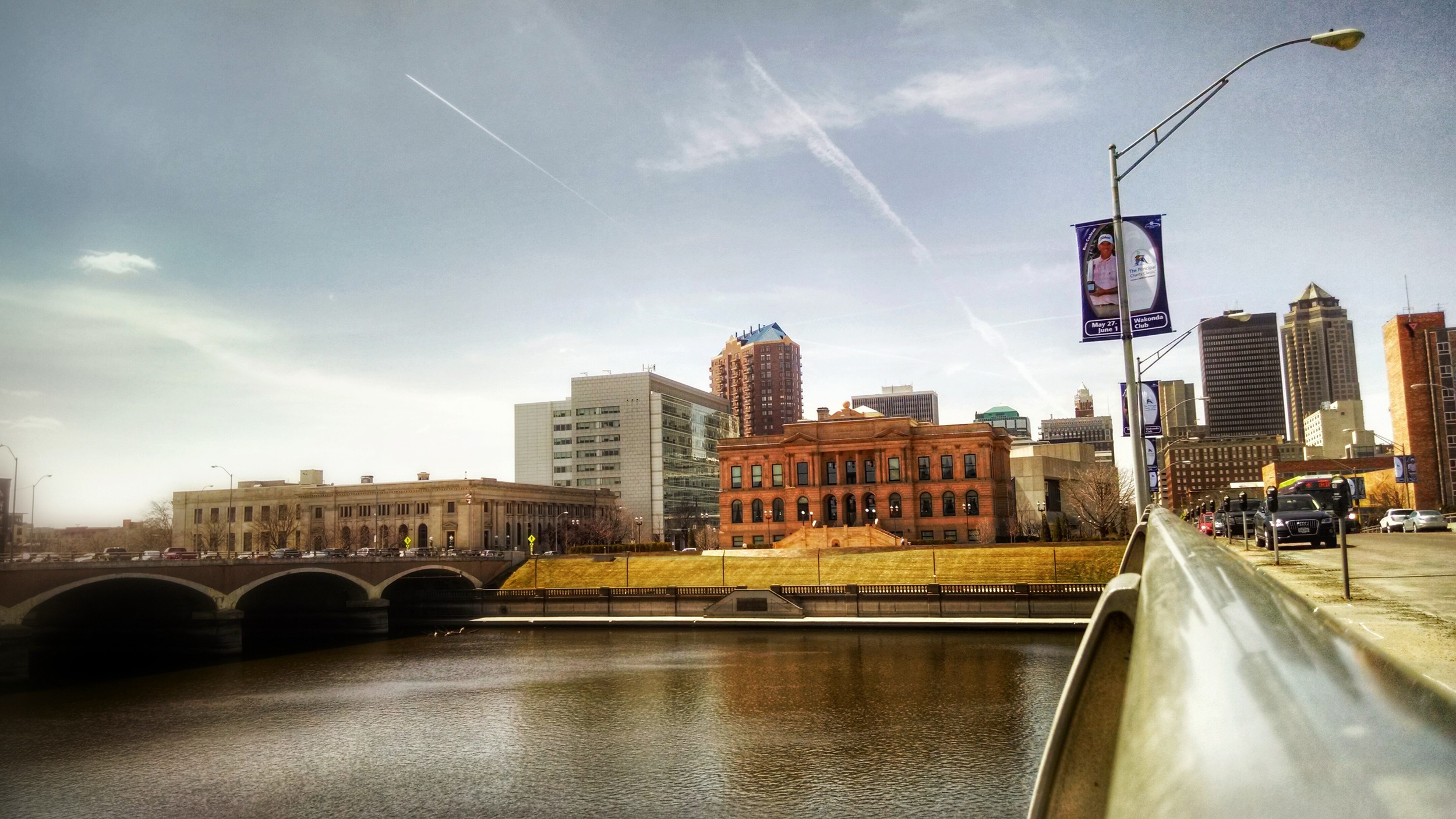 On the river in Des Moines, Iowa