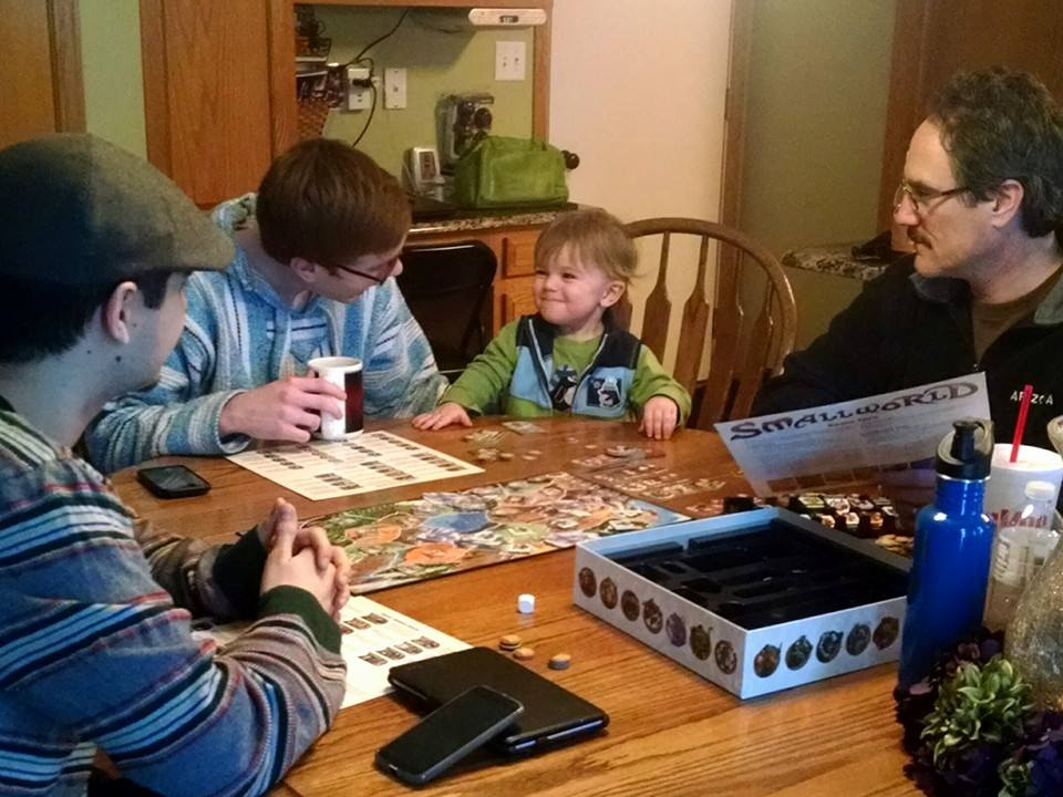 Playing board games with Ryker