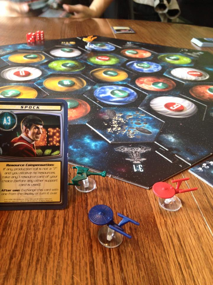 Playing Star Trek Catan.  RIP Spock