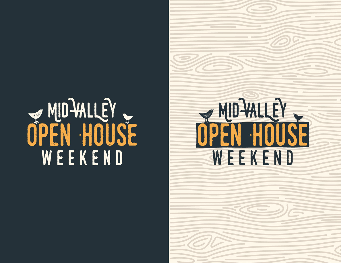 my logo design for Mid-Valley Open House Weekend
