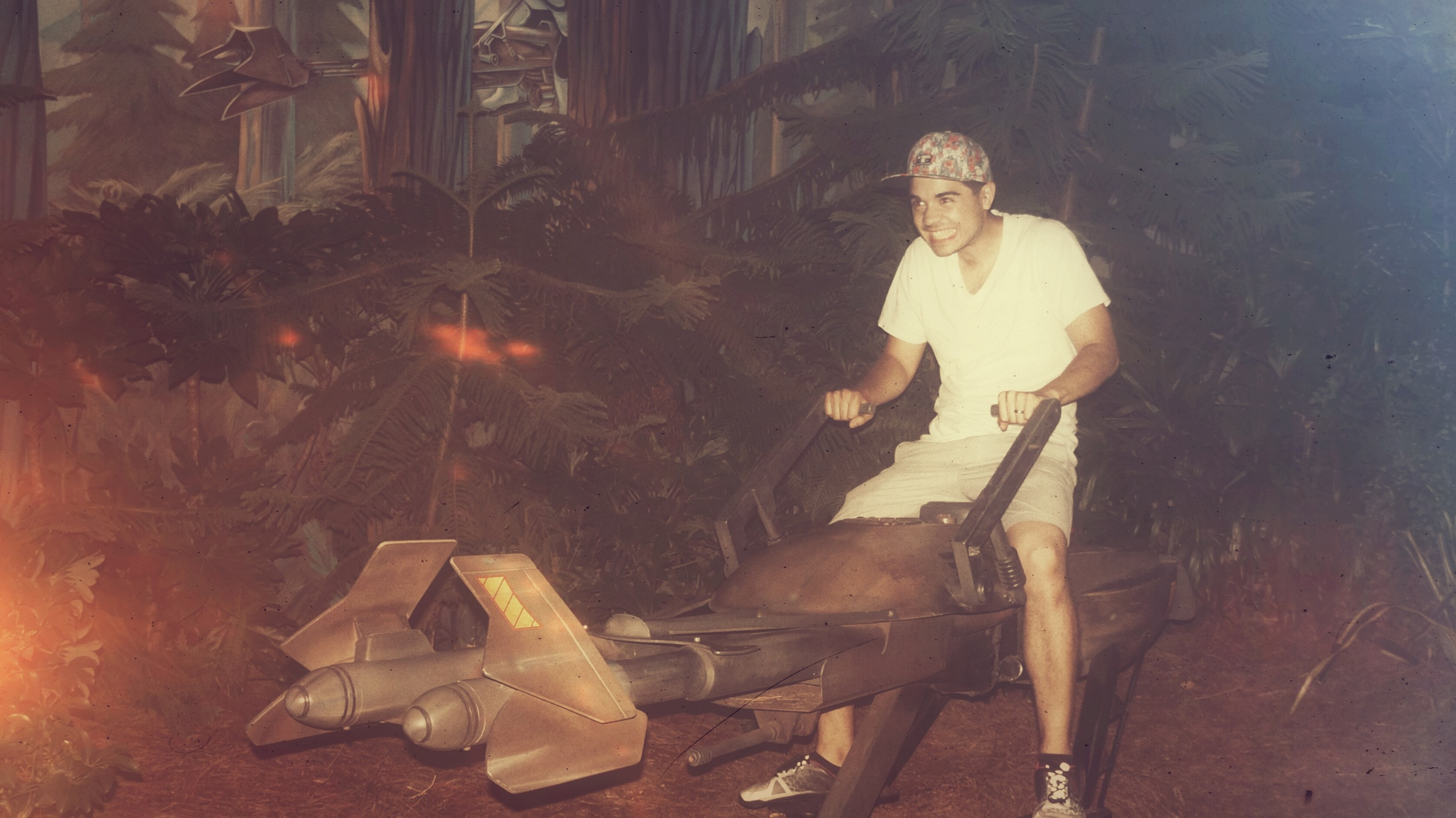 Riley (me) on a speeder bike