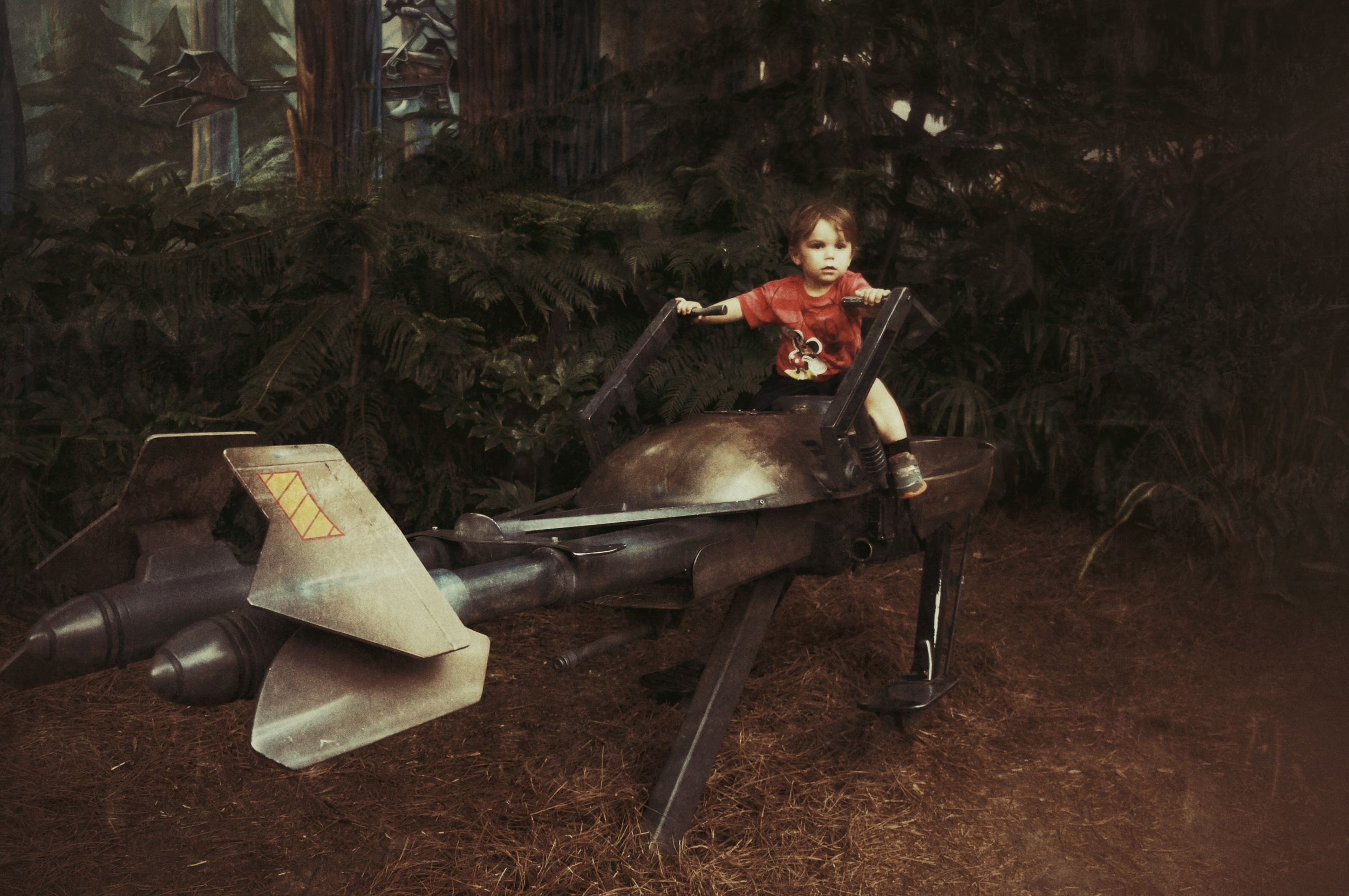 Ryker on a speeder bike