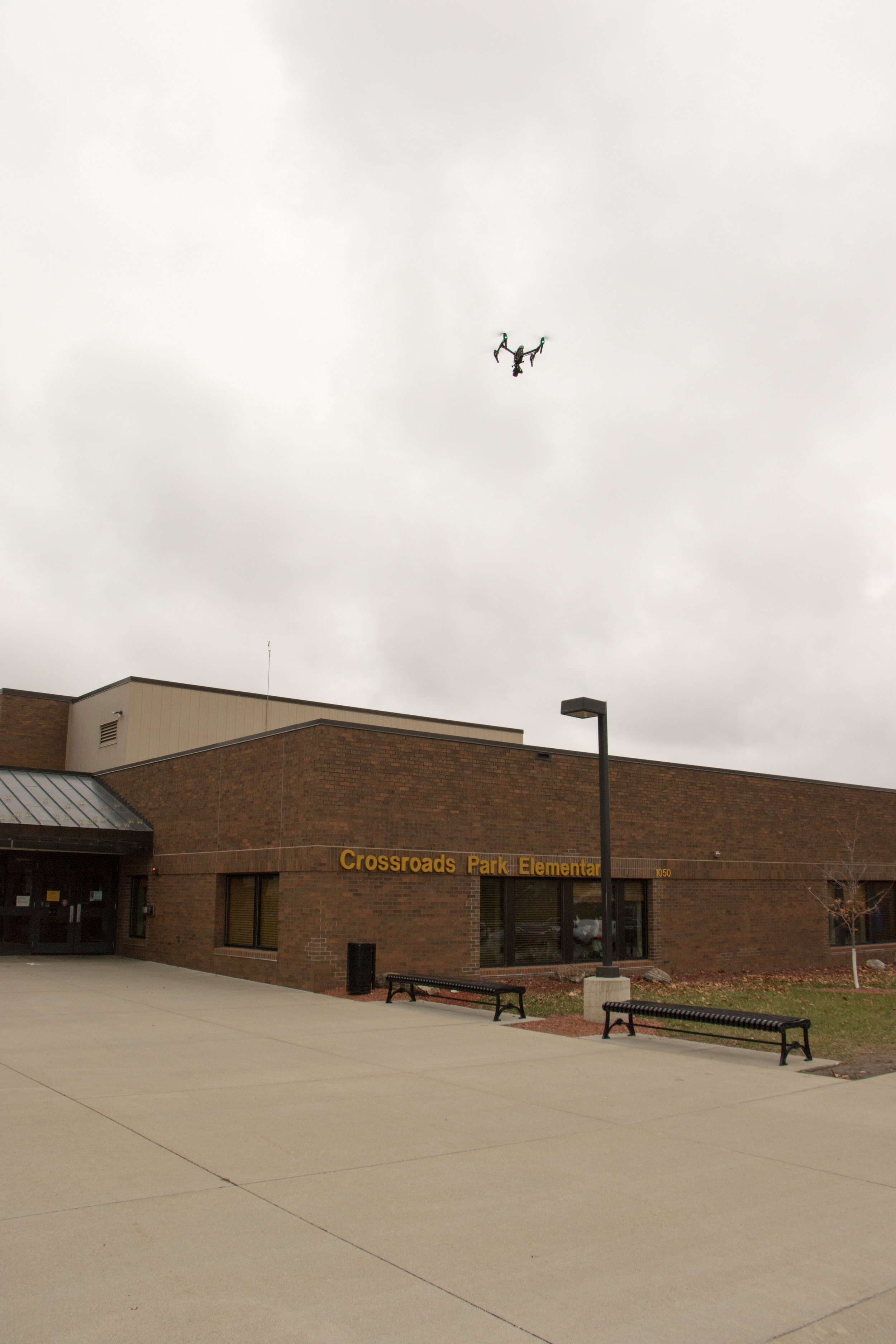 My photo from a drone inspection at a school