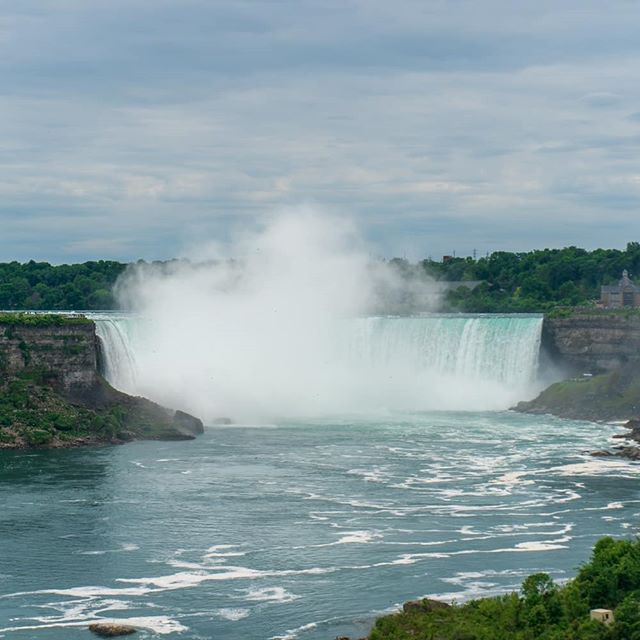 Day 4 of Road Trip We made it to Canada and went to see the Niagara Falls right away and then went back at night for the light show. We also rode the Sky Wheel and played Dinosaur Mini-Golf.