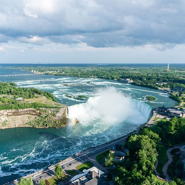 Day 5 of road trip Took the ferry boat at the falls and the kids hated it because they got soaked. Then we went up the Skylon tower and got some great views/photos. On one side of the tower it felt like 100 mph wind and me and Ryker ran around in that for awhile. Ended the day at a giant arcade!
