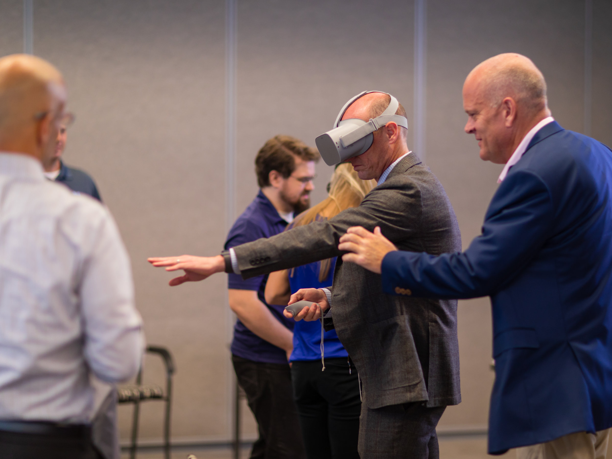 Testing VR at Innovation Lab Open House