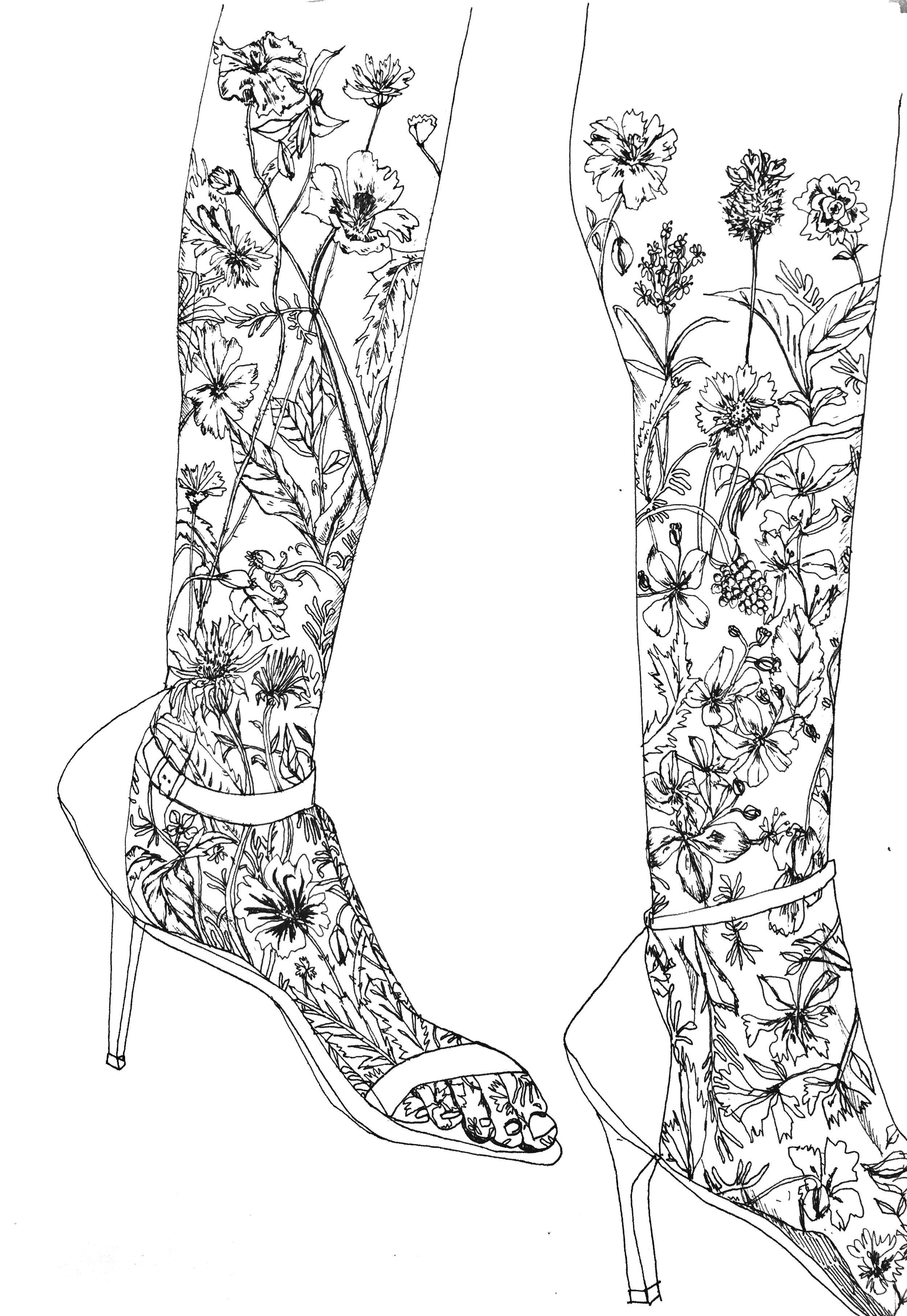 Floral Legs