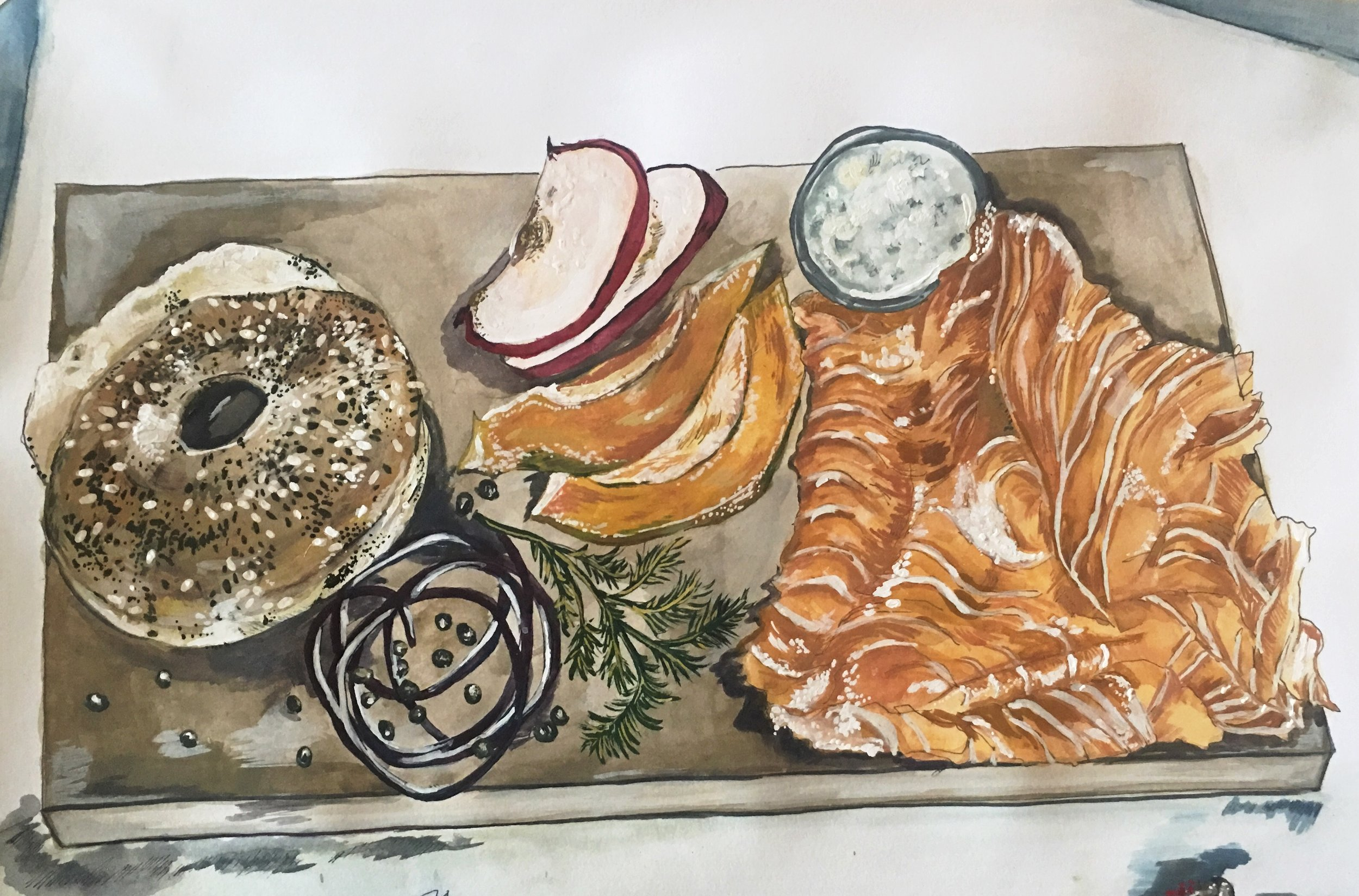 Russ and Daughters Bagel Board