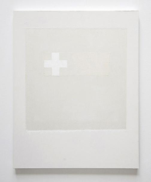 white cross with gauze 16x20