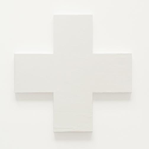encaustic cross 30x30