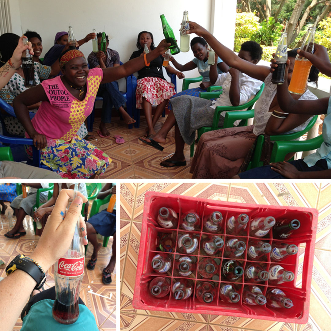 We also celebrated International Women's Day with Fanta and Cokes all around. You do it glass bottle style with straws around here. And hot, minus the ice.
