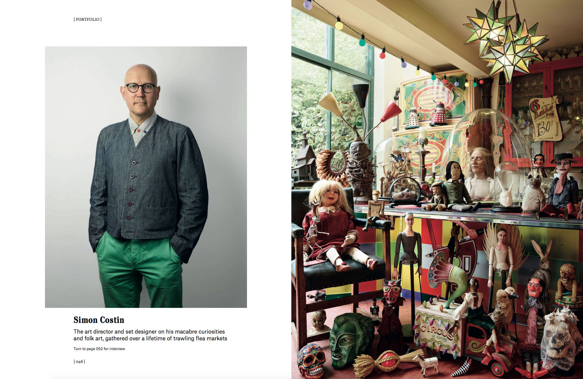Christie's Magazine, portrait of Simon Costin, photography by James Mollison