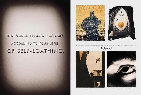 Ted's Polaroid ad for Leonard/Monahan, 1995