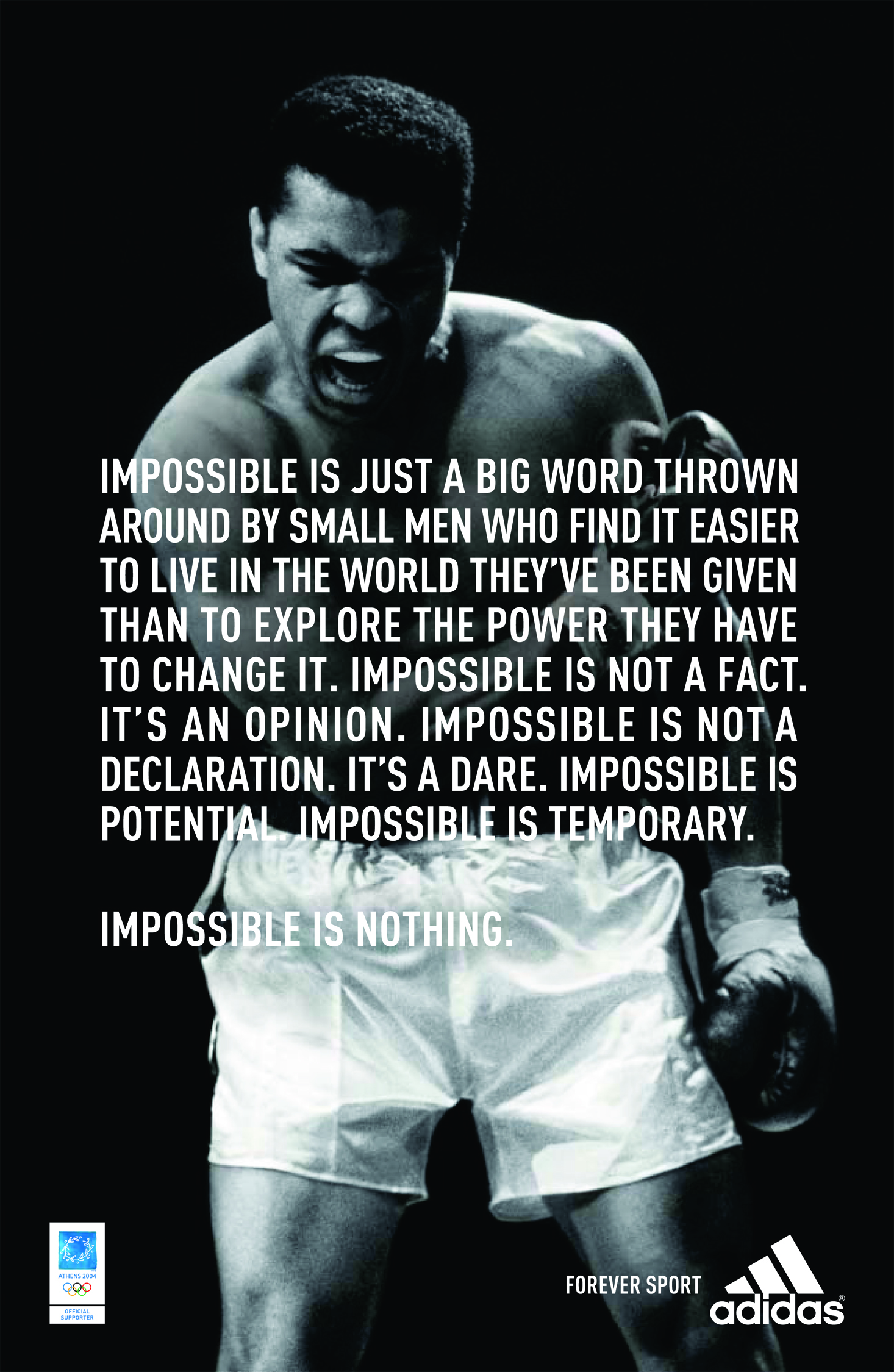 The internet has attached these words to one of the most famous male athletes of all time, when the truth is they came from an ad written by WNW Member  Aimee Lehto Schewe , 25 at the time.