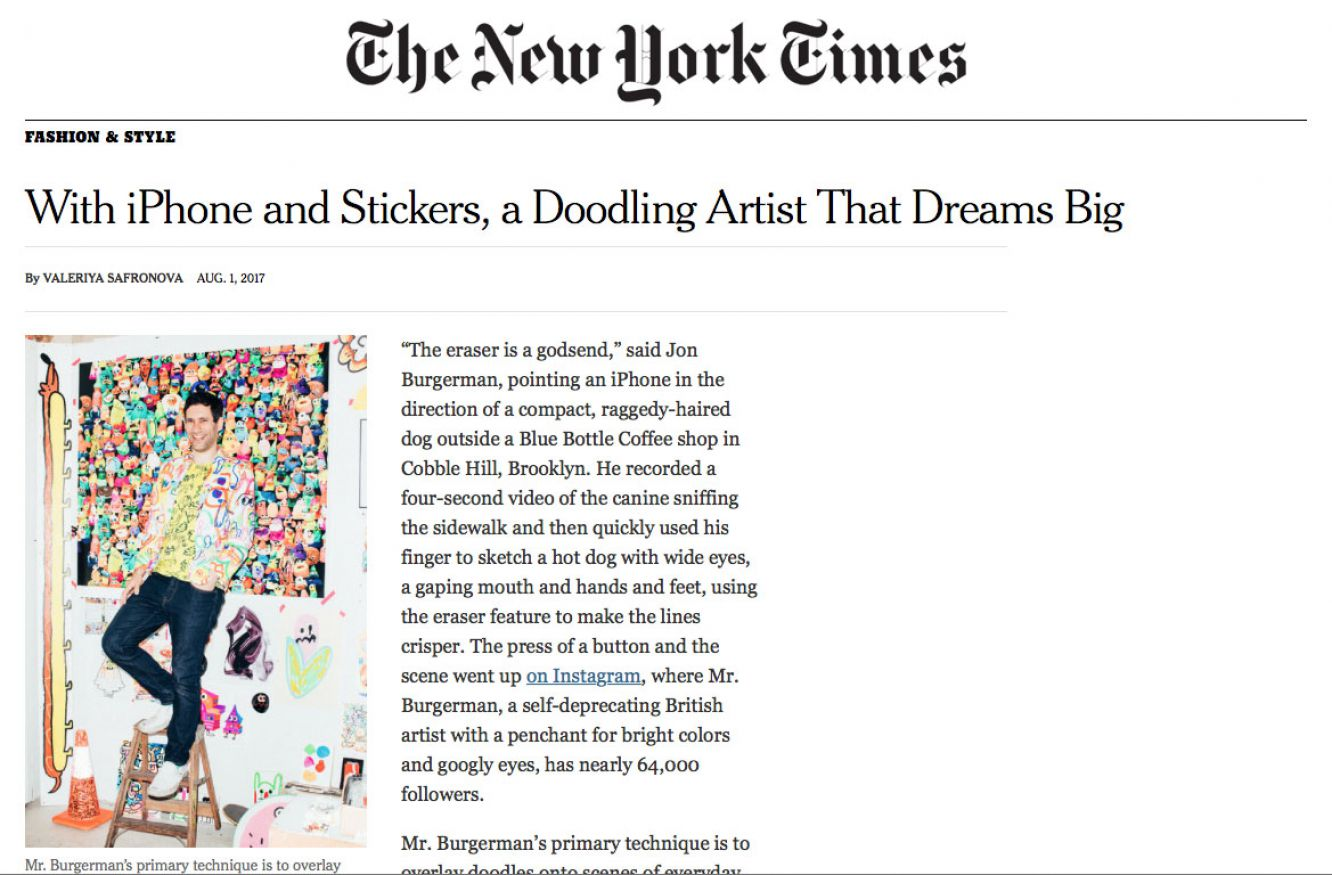 Click the image to read Jon's recent feature in The New York Times.