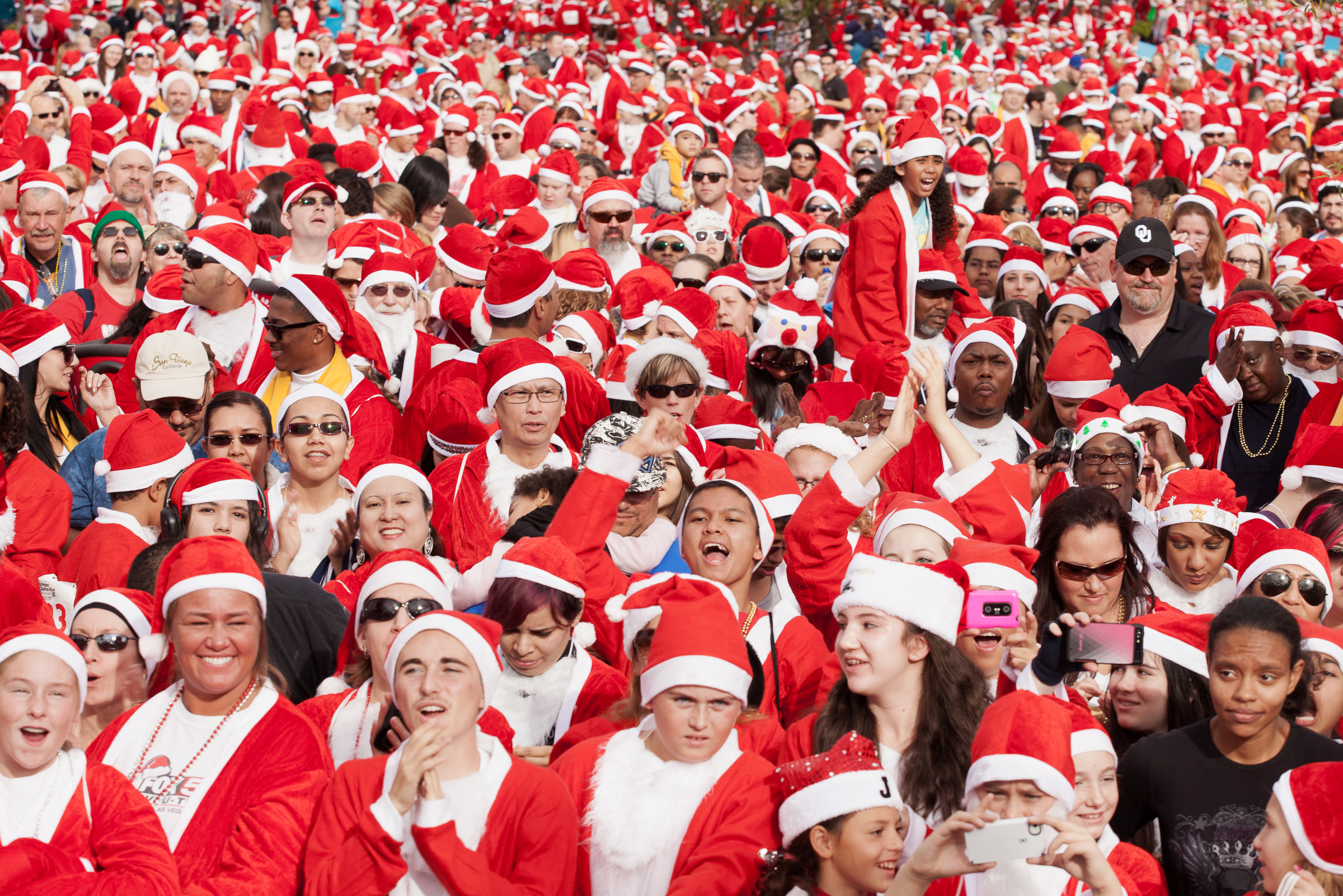 Santa Sea.  Las Vegas, NV . 2013 The Great Santa Run