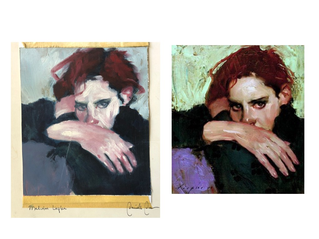 My copy of a  Malcolm Liepke  from a college course next to the real deal. This lives in my closet.
