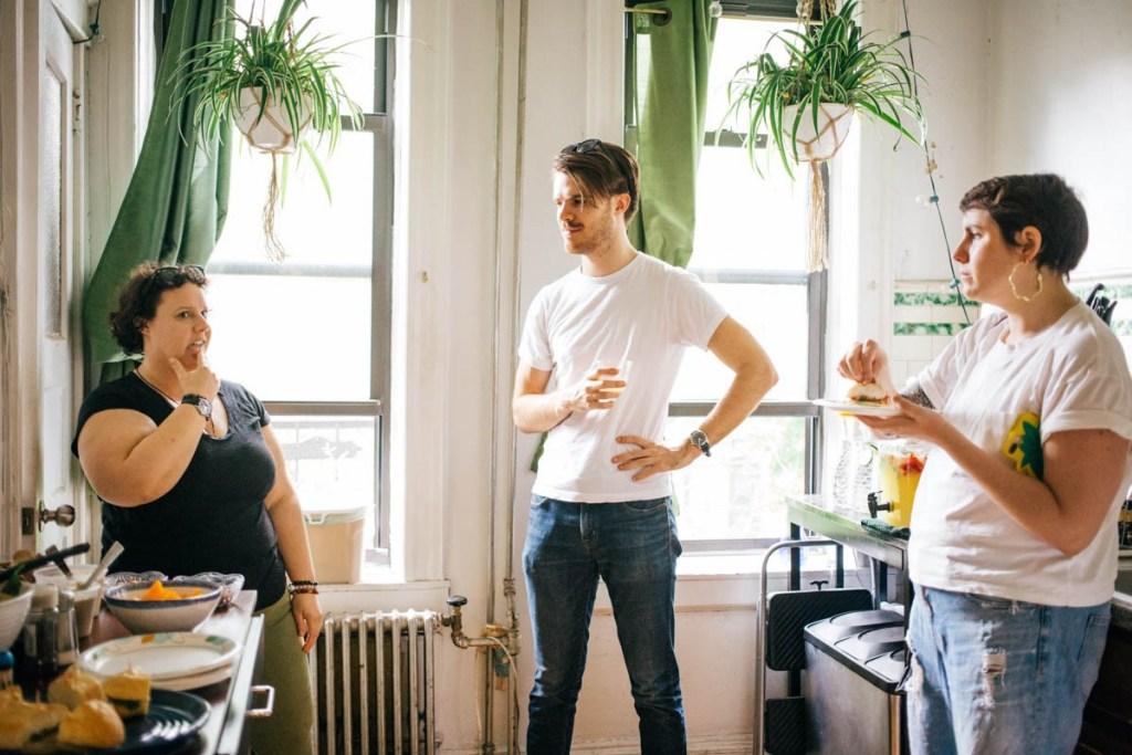 Three NYC creatives at the inaugural gathering