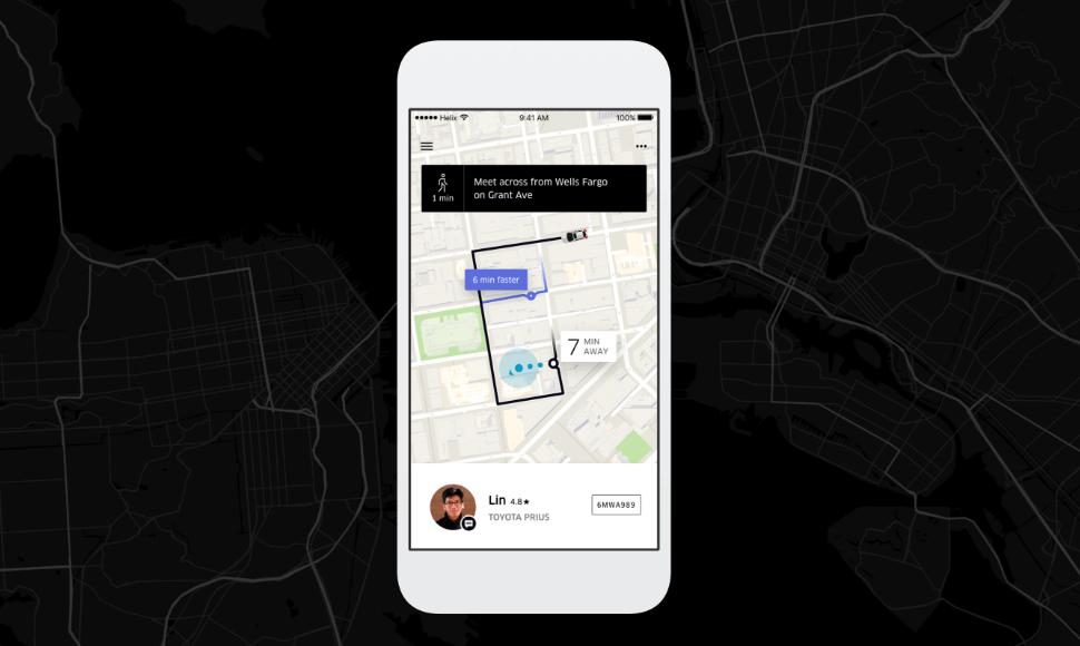 Simon Pan designed Uber's UI, as shown here.