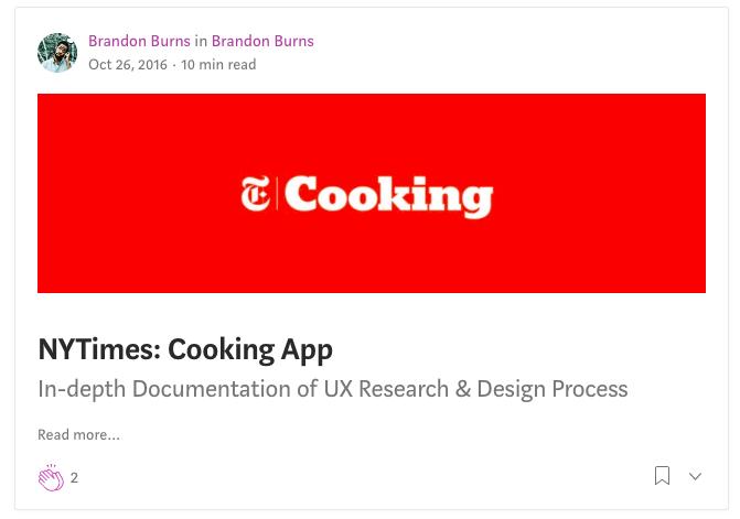 Brandon Burns NYTimes Cooking App